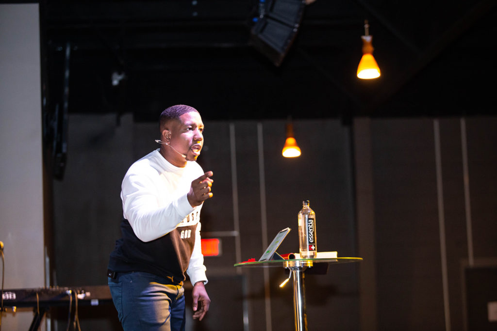 Pastor Jerome preaches at Vision Church in Raleigh, NC