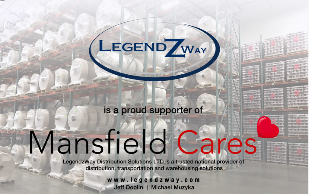 poster of Legendz Way as proud supporter of Mansfield Cares