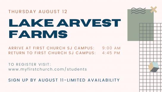 Student Ministry Lake Arevesta Trip