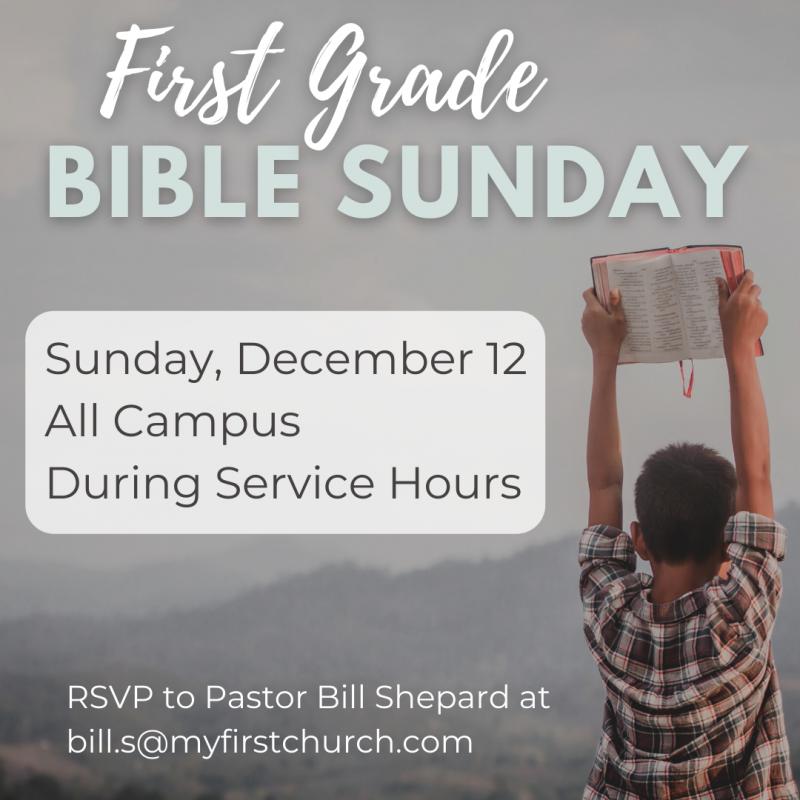 FIRST GRADE BIBLE SUNDAY