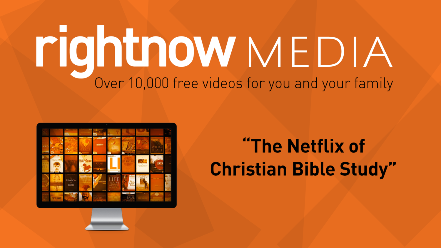 A streaming library of more than 20,000 Bible study videos just for you!