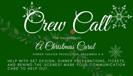 Crew Call - A Christmas Carol