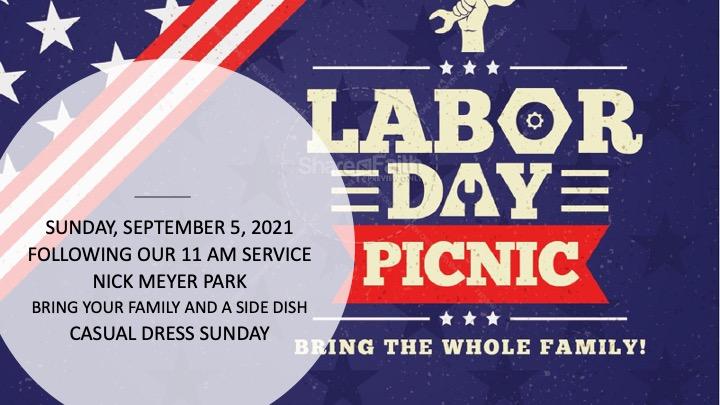 Labor Day Picnic - September 5th