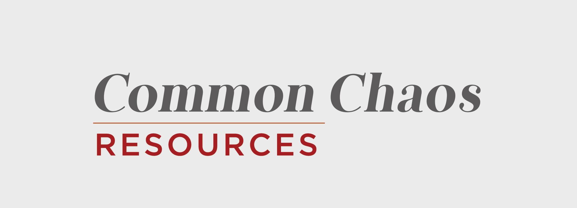 Common Chaos Resources | One Life Network