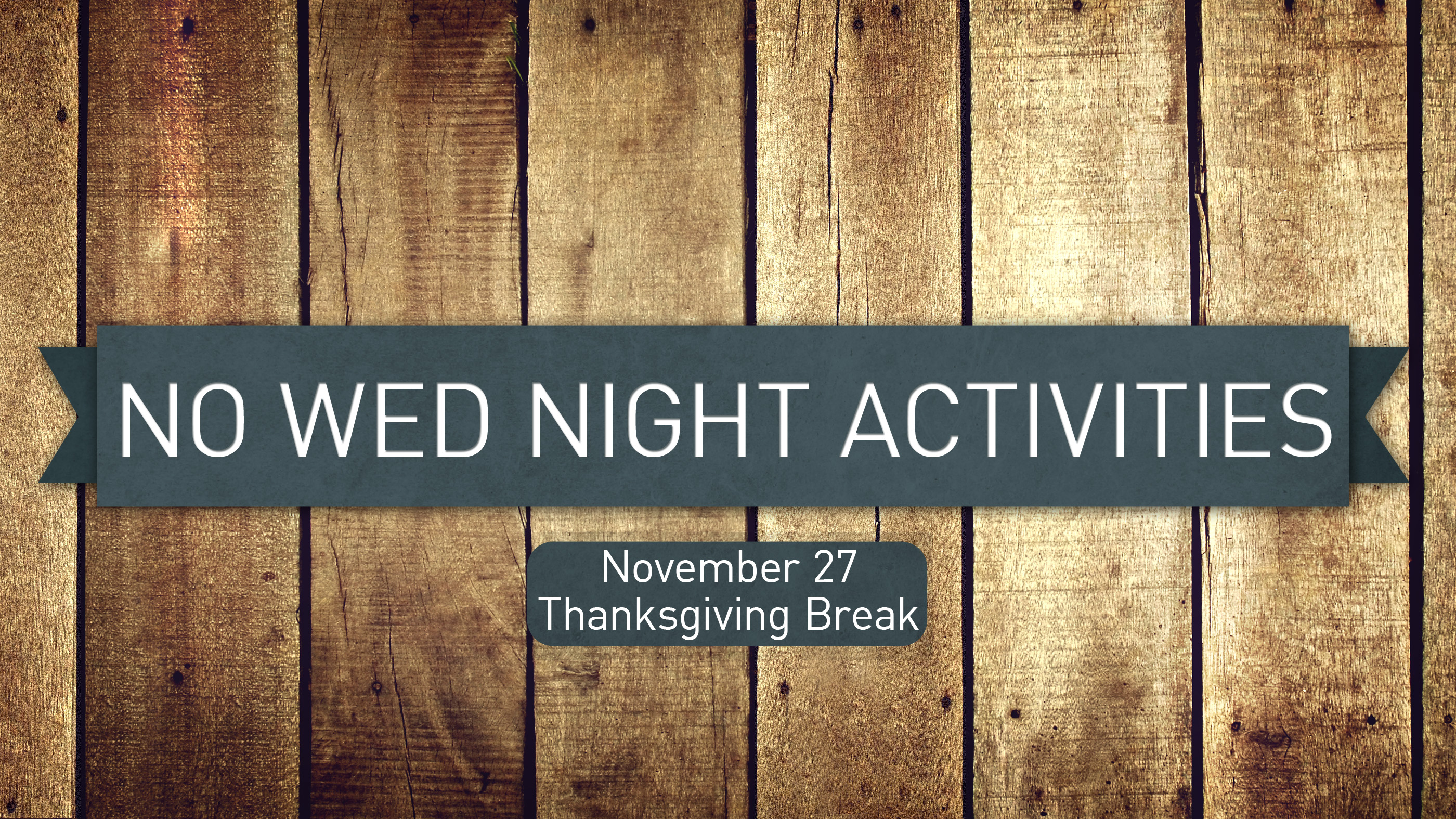 Wed Night Activities Cancelled First Christian Church