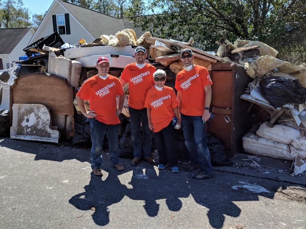 On mission with hurricane disaster relief assisting Samaritan's Purse